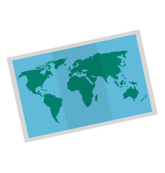 Map paper isolated icon vector