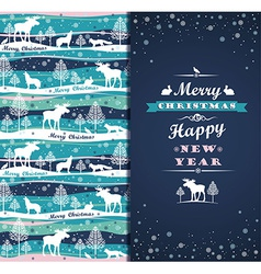 Merry Chrismas background with Typography vector