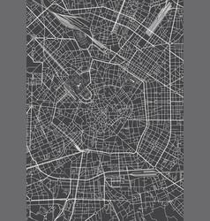Milan city plan detailed map vector