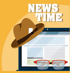 news time online vector image