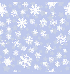 pattern with white snowflakes vector image