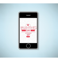 Phone show valentines day up to sale vector