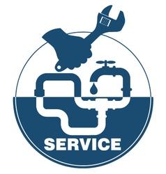 Plumbing service emblem vector image