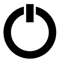 power symbol power button icon isolated on white vector image