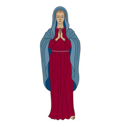 praying virgin mary vector image
