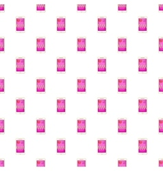 Pulse on screen of smartphone pattern vector