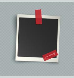 Retro realistic vertical blank instant photo vector