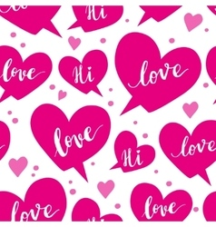 Romantic concept seamless pattern with speech vector image