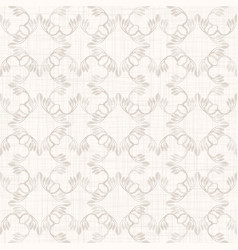 Seamless medallion pattern in french cream linen vector