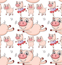 Seamless pig vector image