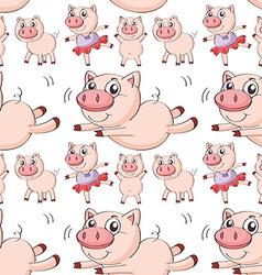 Seamless pig vector