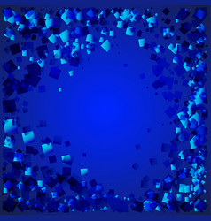 Seascape made blue rhombuses on a blue vector