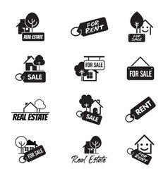 set icons for web and identity real estate and vector image