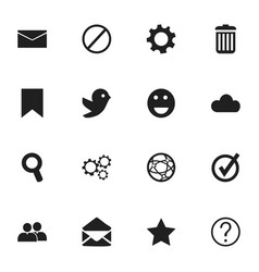 set of 16 editable internet icons includes vector image