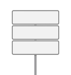 set of signpost vector image