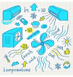 sketch air conditioners fun vector image
