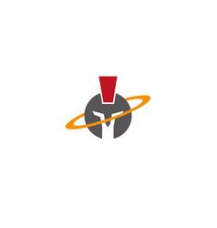 spartan symbol with circle around a helmet vector image