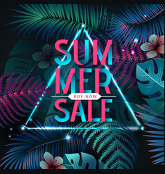 Summer big sale typography poster vector