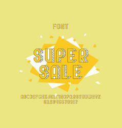 Super sale font alphabet vector
