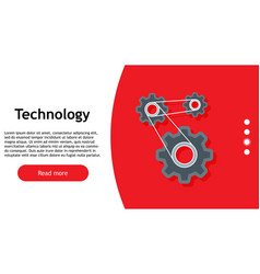 technology digital mechanical gear concept vector image