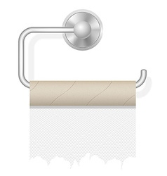 Toilet paper on holder 02 vector