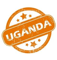 Uganda grunge icon vector image