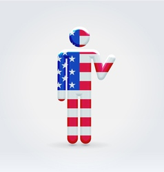 USA symbolic citizen icon vector image