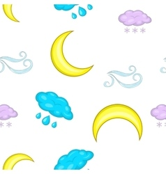 Weather outside pattern cartoon style vector
