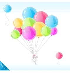 Bright balloons vector image vector image