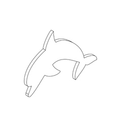 Dolphin icon isometric 3d style vector image