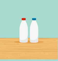 farm bottles of milk vector image vector image