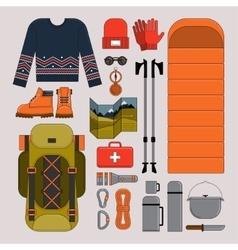 Hiking and trekking vector image