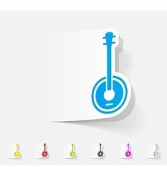 realistic design element banjo vector image vector image