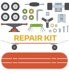 Skateboarding Repairs Kit vector image