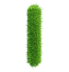 Small grass letter l on white background vector