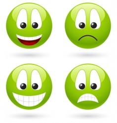 smiley symbols vector image