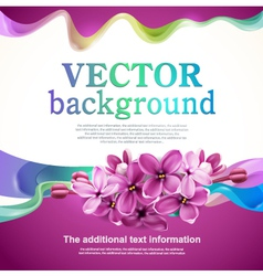 Abstract design with lilac flowers vector image vector image