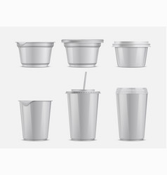 food and drink plastic container set vector image