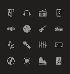 Music - flat icons vector