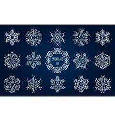 Snowflake Emblem Set vector image vector image
