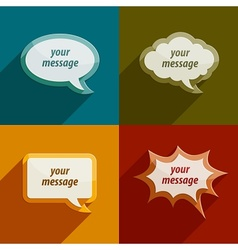 speech bubble clouds kit for vector image vector image