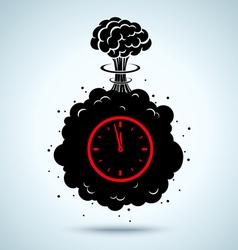 war clock vector image