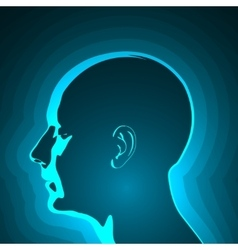 Abstract Profile of Human Head vector image