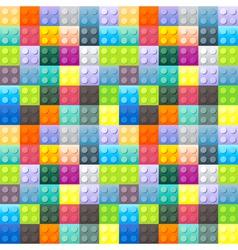Colorful plastic brick pattern vector image
