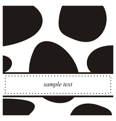 Black and white pop art card or invitation vector image vector image