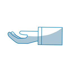 Contour stretched hand with formal suit vector