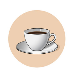 cup of coffee cup of chocolate vector image