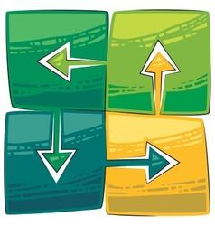 four green arrows vector image vector image