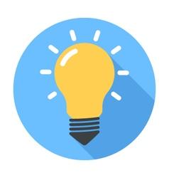 Lightbulb Flat Design icon vector image