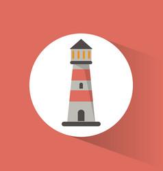 lighthouse guide navigation symbol vector image
